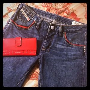 Diesel Industry Jeans Cheren Italy Red trim